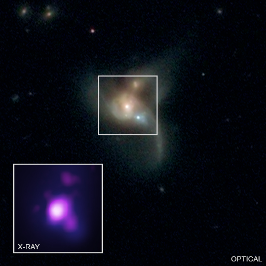 Image of black hole triplet